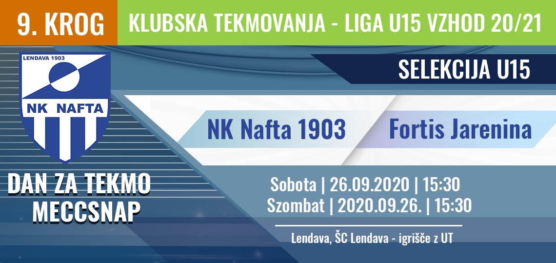 LIGA U15 VZHOD 20/21 - NK nafta1903 Razpored tekem